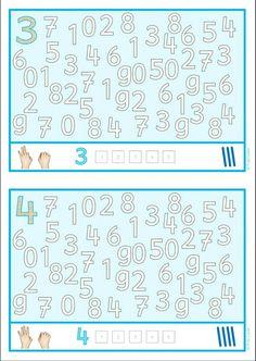 Kindergarten Math Worksheets, Homeschool Kindergarten, Preschool Activities, Numbers For Kids, Math Numbers, Special Education Math, Activity Sheets For Kids, Grande Section, Study Skills