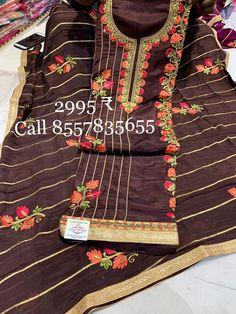 Boutique Suits, Punjabi Dress, Kamiz, Ethnic Fashion, Indian Ethnic, Embroidery, Clothes For Women, Cotton, Dresses