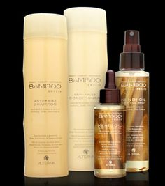 Alterna Bamboo line. Smells great makes your hair smooth, shiny and feeling wonderful. It's also made from sustainable materials, is organic, vegan, paraben, sulfate and cruelty free.I can't say enough good things about this line!