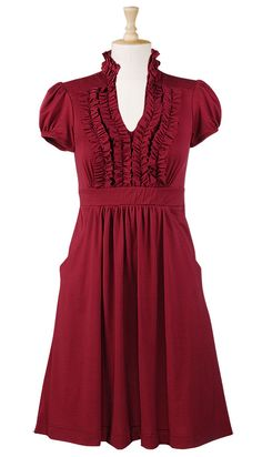ruffle front dress - you can customize the fit/size based on your measurements