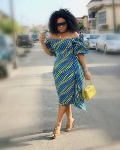 Cute Ankara Styles Of 2019 Ankara Dress Styles, African Print Dresses, African Print Fashion, African Fashion Dresses, African Dress, African Prints, African Attire, African Wear, African Women
