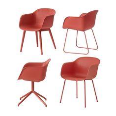 Muuto Fiber Chair Stoel, stalen poten   MisterDesign
