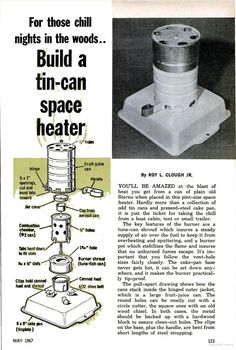 Build a tin-can space heater | 1967 MAY Popular Mechanics - Google Books