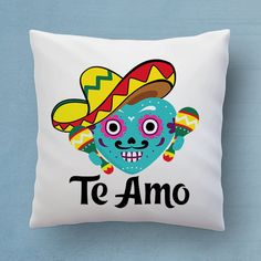 @ideasbyarianna  #gift #etsy #pillow  Te Amo Pillow - Say I Love You In Spanish - Cute Mexican Decorative Pillow 18x18 inches