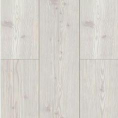 Whitewashed pine laminate flooring. Main floor will have this.