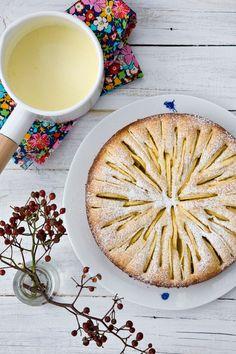 Apple tartine and Creme Anglaise.