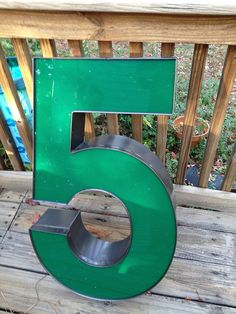 Vintage, reclaimed channel letter. Number 5 - i want this so bad!