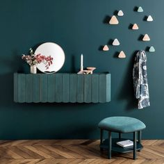 Creative place at studio. Meet Fanny wall mounted shelf, your new smart wall storage unit. With several colourful selections to choose from, it suits any interior while being a great alternative to other storage solutions. Wall Mounted Shelves, Wall Hooks, Table Furniture, Furniture Design, Wall Accessories, Sofa Tables, Wall Storage, Decor Interior Design, Decoration