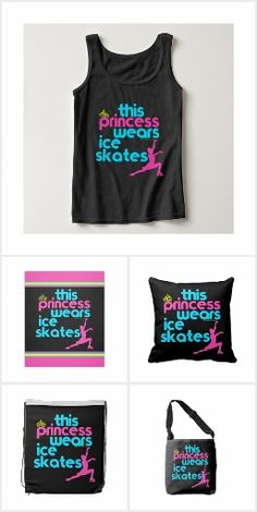 Golly Girls- Skating This Princess Wears Ice Skates t-shirt, pillow, blanket, and more!