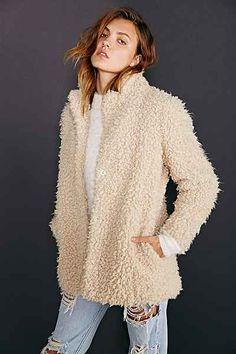 Numph Mariko Sherpa Coat - Urban Outfitters