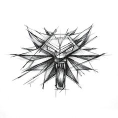 Witcher symbol tattoo design by rysaaTATTOO #tattoodesign #tattoo #design #sketch #sketchstyle #project #tattooproject #linework #inkwork #blackwork #wolf #wolftattoo #creepy #witcher #witcherdesign #witchersketch