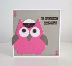 kutsukortti yo - Google-haku Make Happy, Envelope, Diy And Crafts, Scrap, Owl, Gift Wrapping, Party, Cute, Gifts
