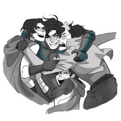 Batboys. Nightwing, Red Hood, Red Robin, & Robin. <3