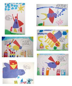 Grade Art with Mrs. Kindergarten Projects, Classroom Projects, Superhero Art Projects, Superhero Classroom Theme, 2nd Grade Art, Art Curriculum, Kids Artwork, Art Lessons Elementary, Art Lesson Plans
