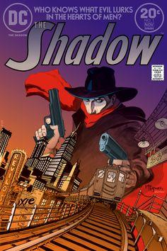 The Shadow No. 1 by Michael Wm Kaluta November 1973, DC Comics Coloured by Scott Dutton / Catspaw Dynamics