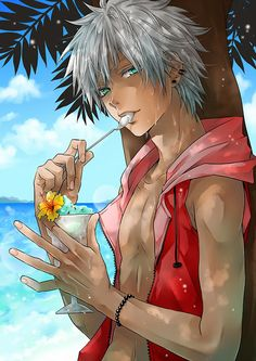 """""""white hair tan"""" - Random girl: Give me THAT BOY!! Me: I don't care about the boy, GIVE ME THE ICE-CREAM!!!"""