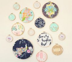 12 Embroidery Hoop Crafts That Dont Involve a Needle and Thread via Brit + Co