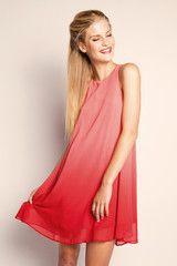 Swings Dress - Ombre Red $59.95