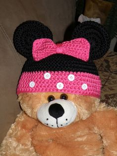 Crochet Minnie Mouse Hat- by me