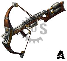 Engineered Crossbow to nullify the reload property. Steampunk Weapons, Sci Fi Weapons, Weapon Concept Art, Weapons Guns, Fantasy Weapons, Armes Futures, Crossbow Targets, Crossbow Arrows, Diy Crossbow