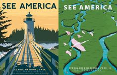 National park prints by artist Steven Thomas.