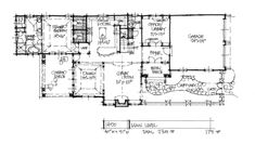 Check out the first floor plan of home plan 1450.