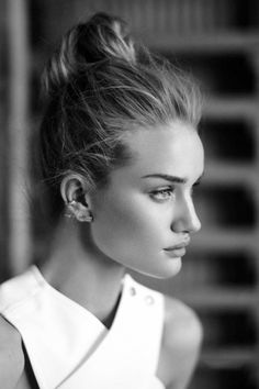 Rosie Huntington Whiteley#bun#