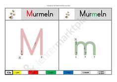 Buchstabenschreibtraining:  M, N, O - Seite 1