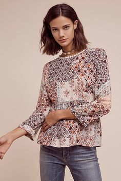 Auxerre Patchwork Top | Anthropologie