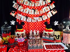Mickey Mouse Birthday Party Theme Candy Buffet Ideas
