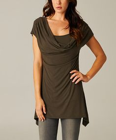 Another great find on #zulily! Olive Convertible Drape Neck Top by A La Tzarina #zulilyfinds