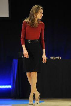 Princesa Letizia en falda lapiz