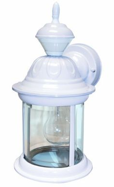 Heath/Zenith SL-4168-MW 150-Degree Motion-Activated Bridgeport Style Decorative Lantern, Matte White by Heath/Zenith. $59.95. From the Manufacturer                The SL-4168-MW features 150-degree motion detection up to 30 feet away. The lantern has clear beveled glass and is constructed of metal with a weather resistant finish. Uses one medium base incandescent bulb (100 watt max - not included). Features include DualBrite two-level lighting.                ...