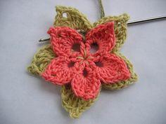 front view crochet flower 3