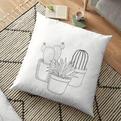 'Cactus Plants' Floor Pillow by PounceBoxArt Buy Cactus, Cactus Plants, Framed Prints, Canvas Prints, Art Prints, Floor Pillows, Throw Pillows, Free Stickers, Pillow Design
