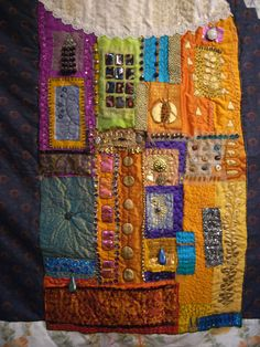 Posts about Art quilts written by Ann Rippin Fabric Art, Fabric Crafts, Angelina Fibres, Creative Embroidery, Contemporary Quilts, Quilted Wall Hangings, Textile Artists, Knitted Fabric, Machine Embroidery