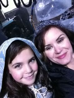 Young Snow and Blue Fairy (aka Bailee Madison and Keegan Connor Tracy)