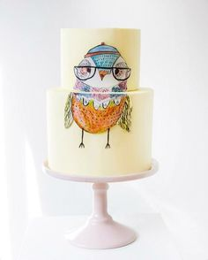Hipster Owl - sweetbakes_