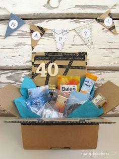 NaturDekoHerz: Notfallbox zum 40. Geburtstag