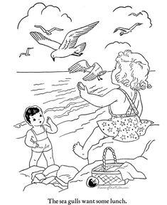 Coloring Pages printable beach pictures: Printable Beach Color Page Beach Coloring Pages, Free Kids Coloring Pages, Coloring Book Pages, Coloring Pages For Kids, Coloring Sheets, Art Drawing Images, Drawings, Sue Sunbonnet, Digi Stamps