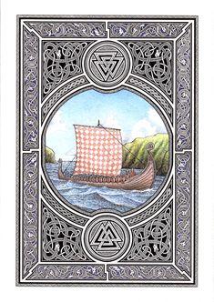 Viking ship by fibacz.deviantart.com on @deviantART