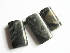 3 Sets Picasso Marble Rectangle Beads 9 pendants total by abundantearthsupply  #marble #marblependant #graduatedpendants #wholesalebeads #wholesalependants #picassomarble #jewelrysupply #abundantearthsupply