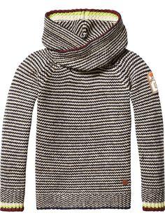 Gebreide hoodie met gedraaide capuchon Scotch Shrunk aw16 Artikelnummer: 101207
