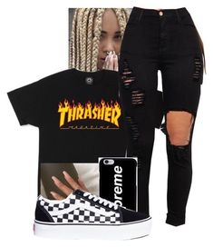 Thrasher Streetstyle Fashion Discover Thrash Magazine Limited Edition Sweatshirt from BLVCK SUNFLOWER, a custom product made just for you by Teespring. With world-class production and customer support, your satisfaction is guaranteed. Swag Outfits For Girls, Teenage Girl Outfits, Cute Swag Outfits, Teen Fashion Outfits, Skirt Outfits, Fashion Fashion, Baddie Outfits Casual, Stylish Outfits, Polyvore Outfits
