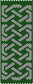 Celtic Knot Ribbon 4 (peyote stitch)