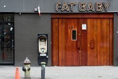 Fat Baby Storefront & Neon Signage | New York