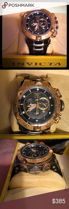 Invicta men's Subaqua Noma V Swiss chronograph Invicta Subaqua Noma V movement swiss Rhonda 5050.E Swiss quartz rotating bezel material stainless steel and has the Subaqua metal and polyurethane strap regular buckle with a screw down crown water resistance is 1650 feet has a very aluminous dial it also has a pressure release valve on the side for diving any questions please ask thanks Invicta Accessories Watches
