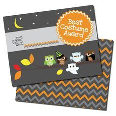 May I Propose A Postcard?: Awards Season, free printable Halloween Costume Award