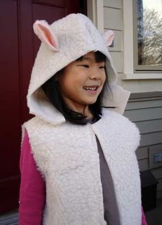 quick and easy sheep costume.... perhaps make as a tunic
