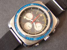 Chronographs: Favre-Leuba Sea Sky GMT with Valjoux 724 Amazing Watches, Cool Watches, Watches For Men, Wrist Watches, Favre Leuba, Watch Blog, Vintage Watches, Luxury Watches, Vintage Designs